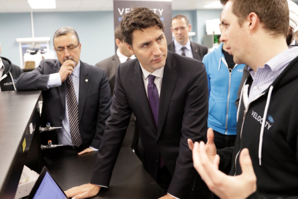 Prime Minister Justin Trudeau Meets with Nicoya CEO Ryan Denomme-2